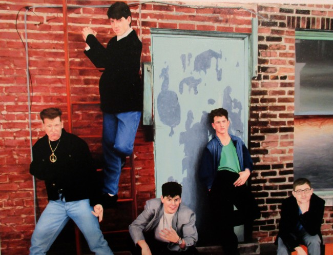 NKOTB Brick Wall
