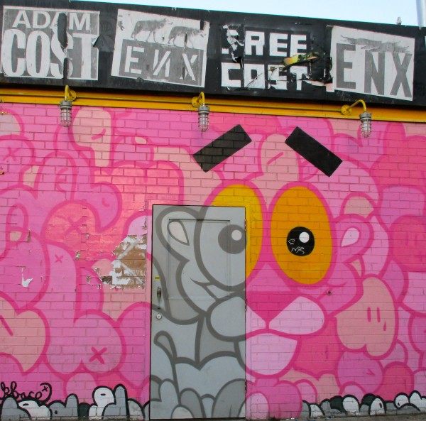 Pink Panther Mural by Jerkface