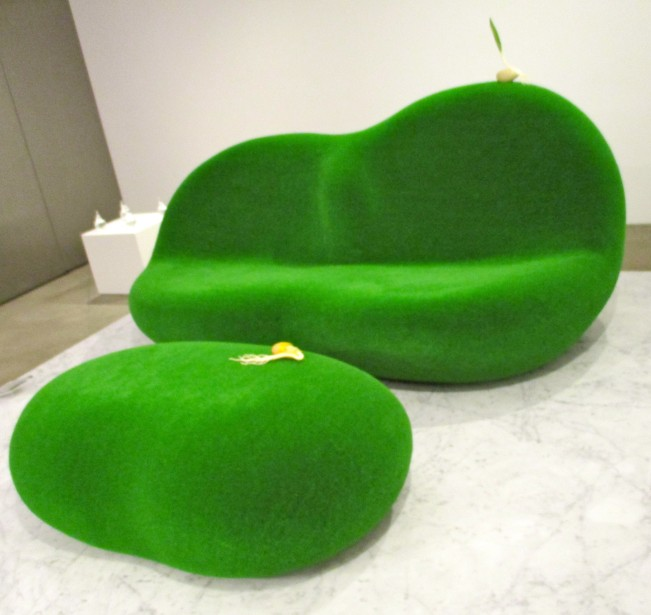 Botanical Sofa and Side Table