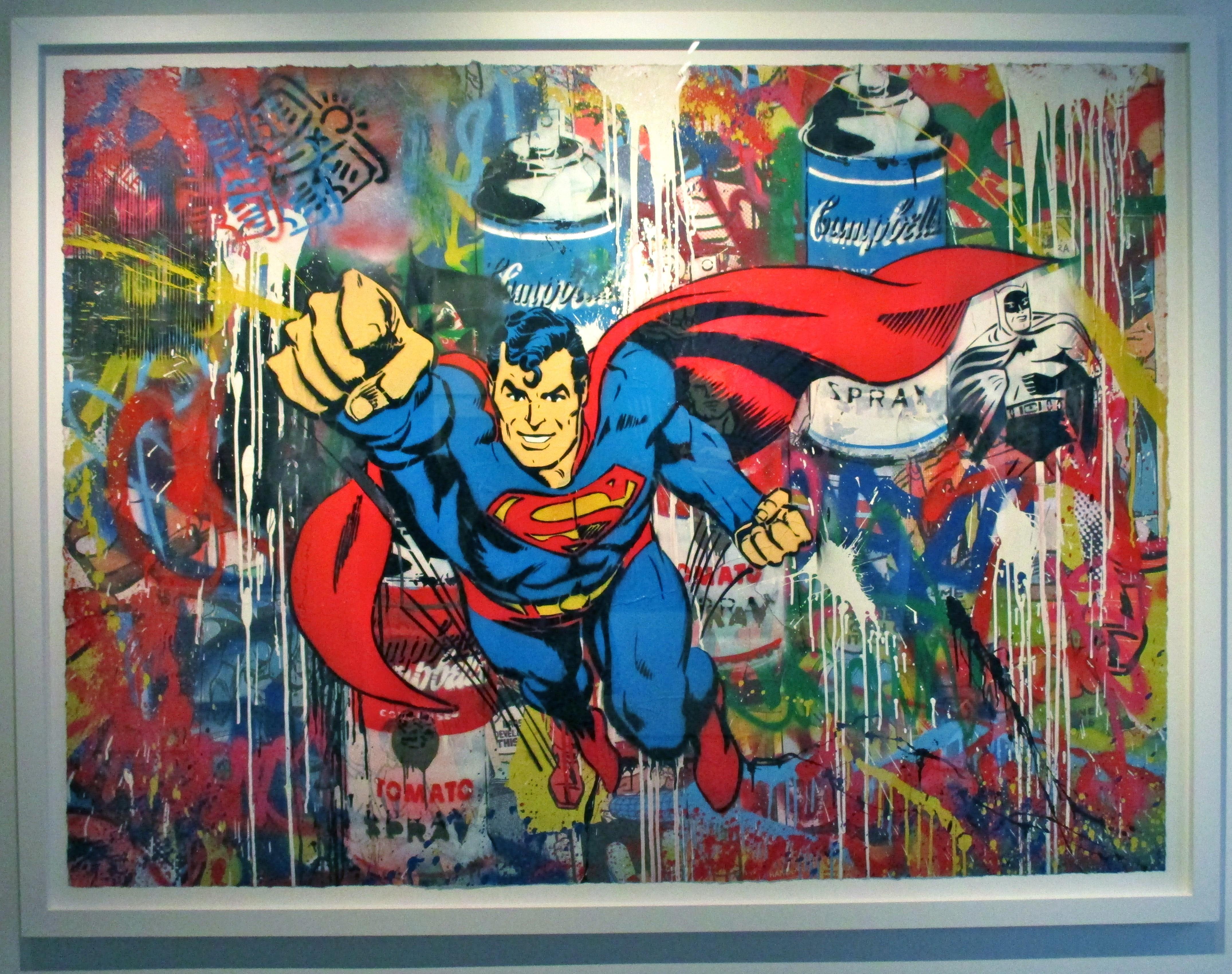Mr brainwash the worley gig for Mural painted by street artist mr brainwash