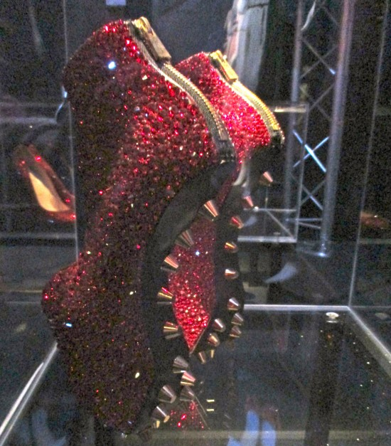 Noritaka Crystal Rose Shoes Back