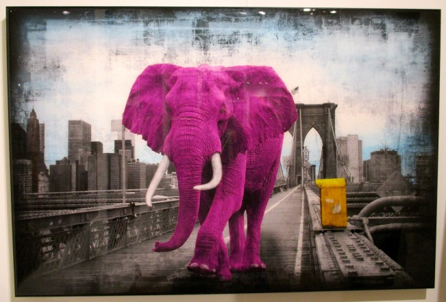 Pink Elephant in Ronen Art Gallery Booth
