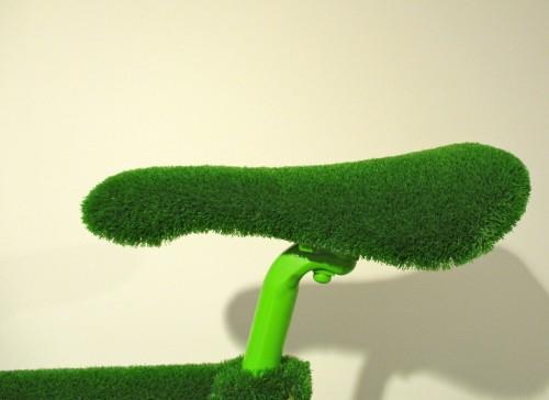 Botanical Bicycle Seat Detail