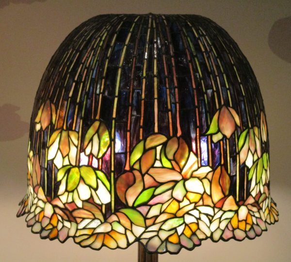 Pond Lily Library Lamp Shade Detail