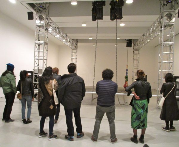 Installation View with Crowd