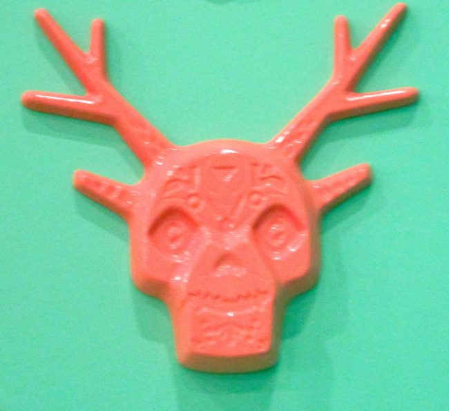 Pink Skull With Antlers