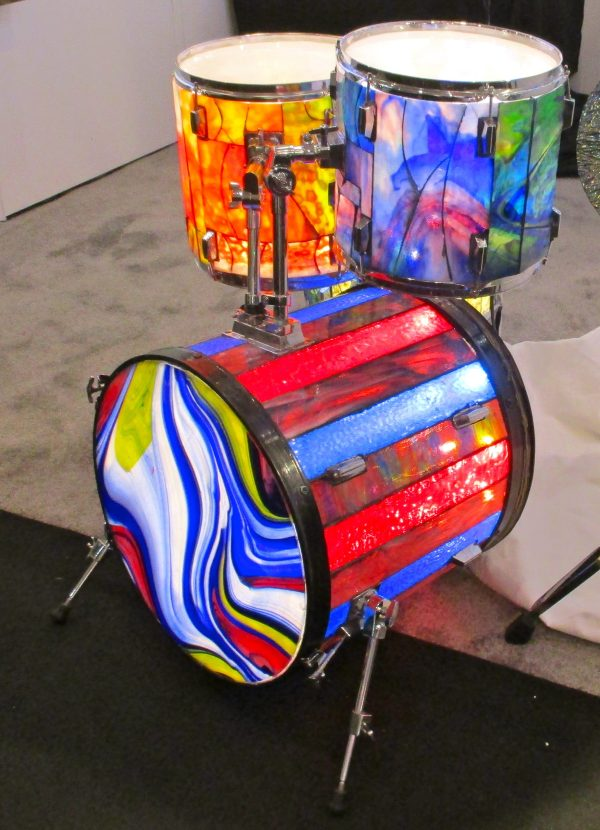 Stained Glass Drumkit Detail