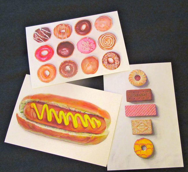 Food Art Cards By Joel Penkman