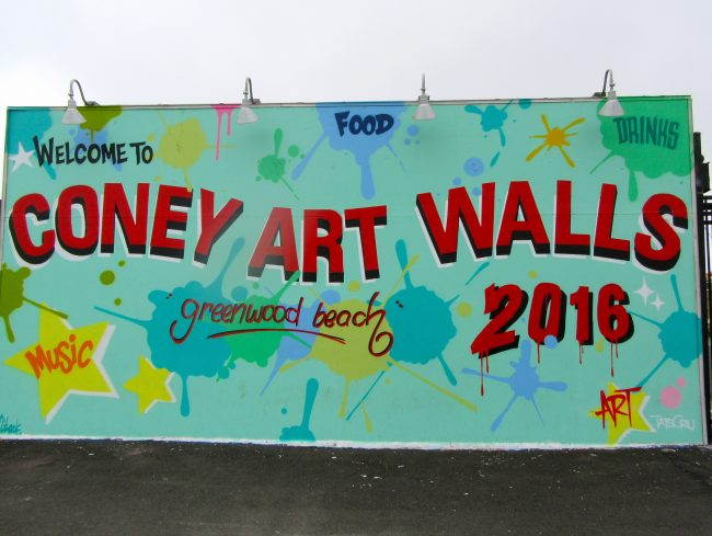 Coney Art Walls 2016 Signage