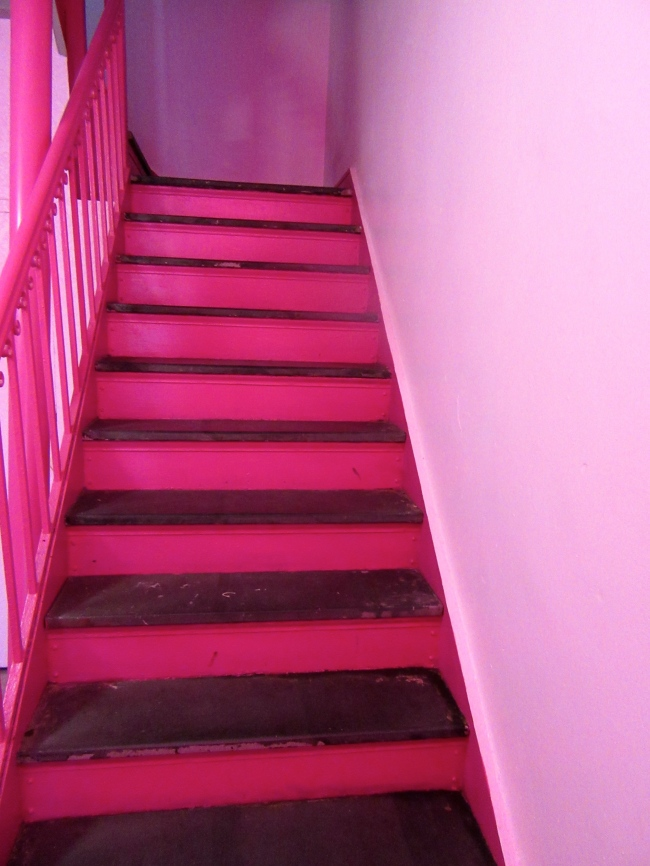 Pink Stairs Up
