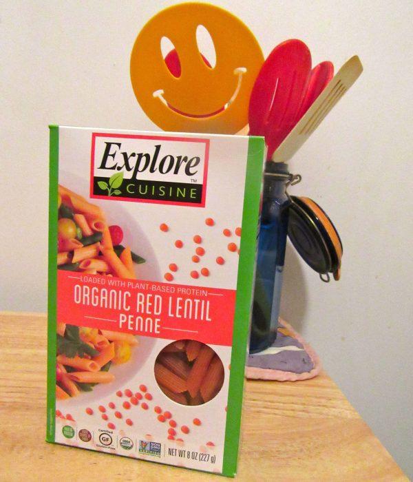 Red Lentil Penne Pasta Box