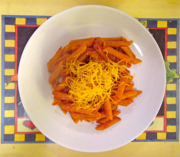Red Lentil Penne with Sauce