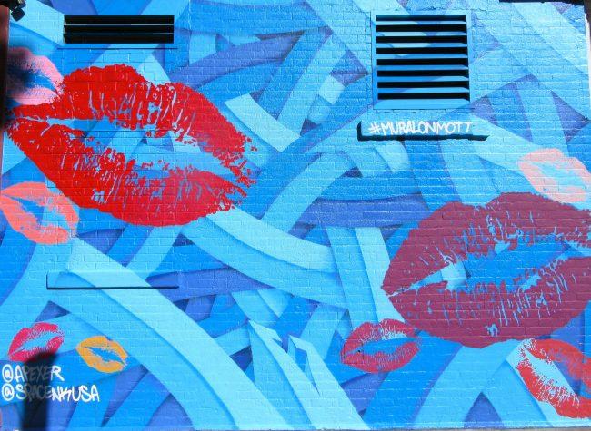 Lips Mural on Mott Street