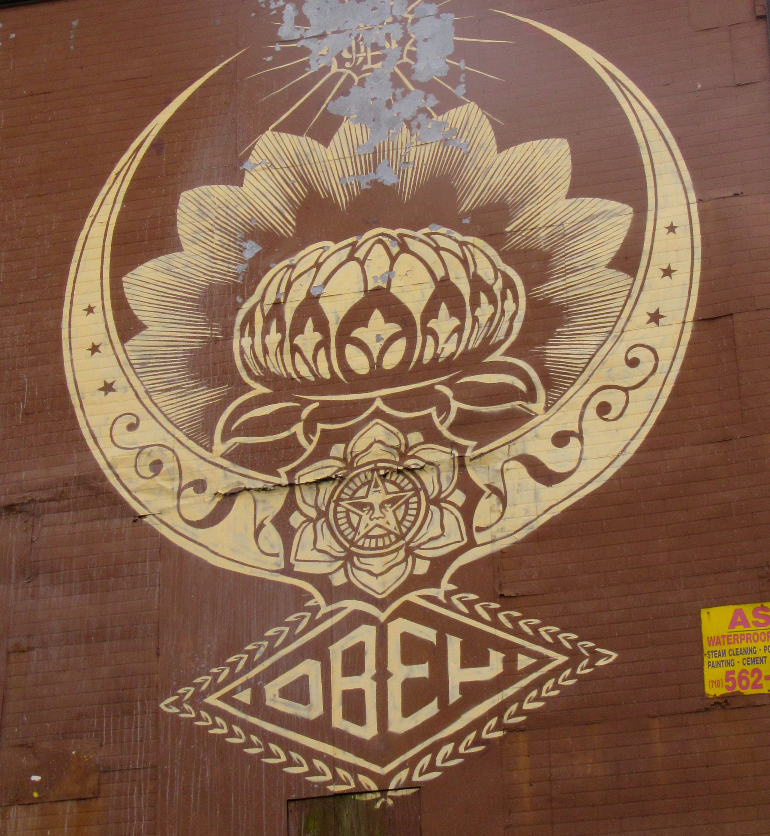Shepard Fairys Obey Lotus Flower Stencil Lives On The Worley Gig