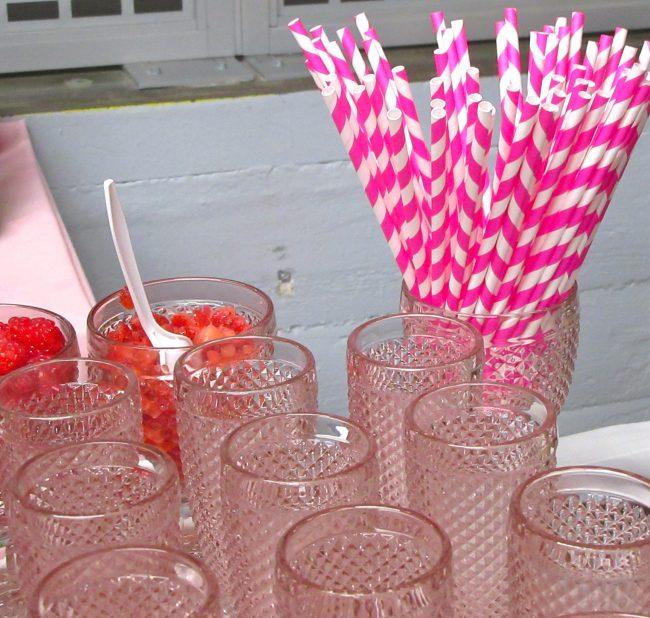 Pink Straws