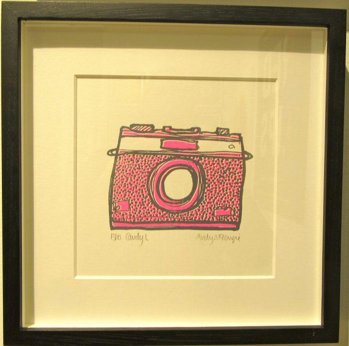 Pink Camera at Bleach Box Gallery