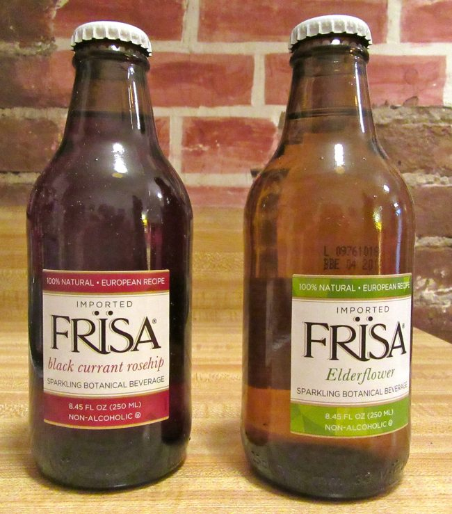 Frisa Black Currant and Elderflower Bottles