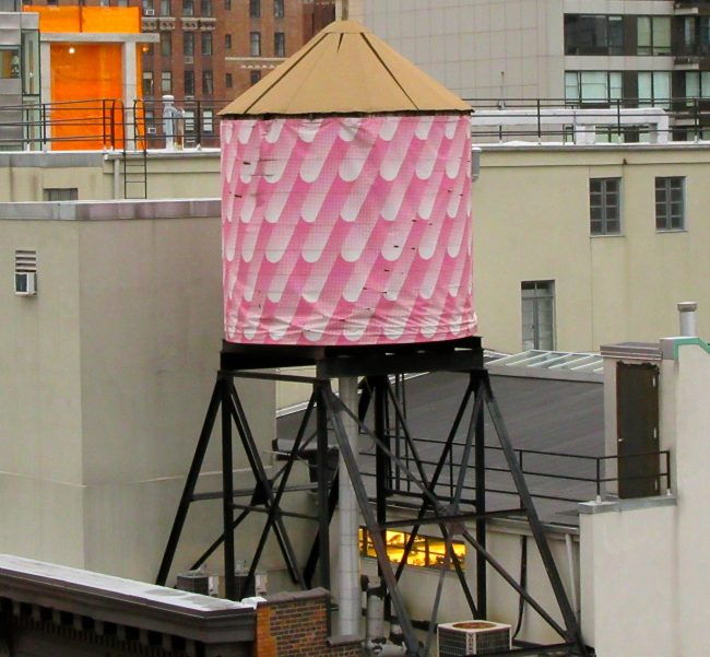 Pink Water Tower Close Up