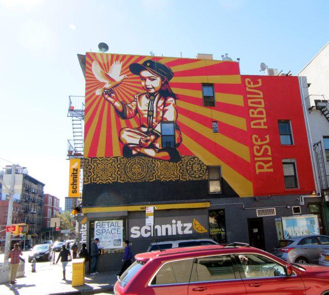 Shepard Fairey Rise Above Mural
