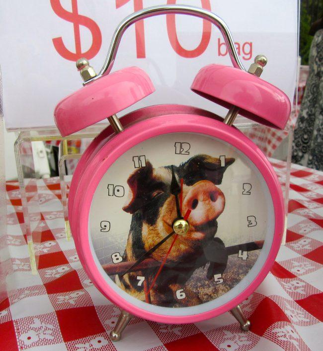 Pink Pig Alarm Clock