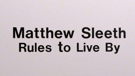 Matthew Sleeth Signage