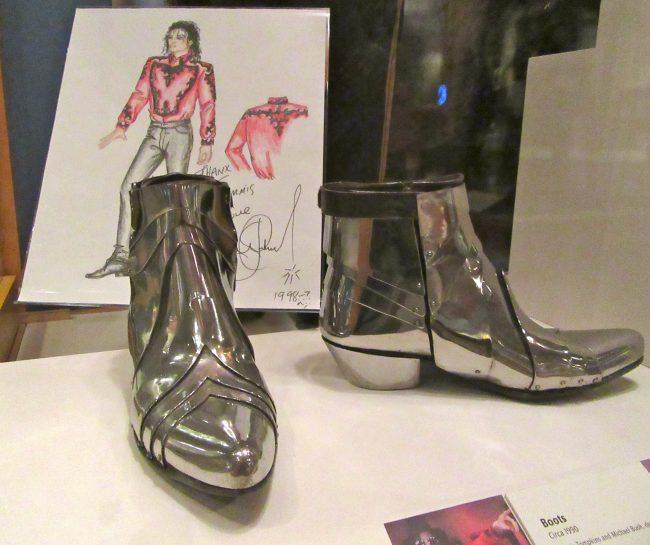 Michael Jackson Metal Cowboy Boots