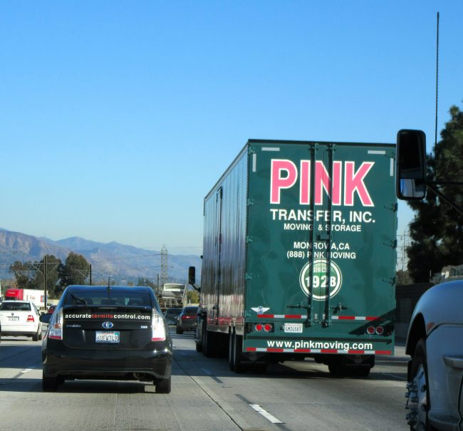 Pink Transfer Truck