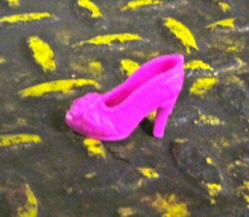 Pink Barbie Shoe Detail