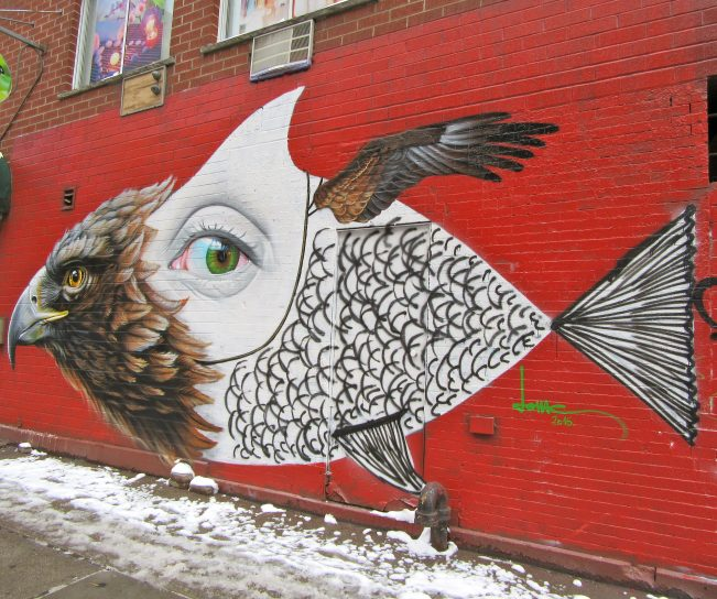 Eagle Eye Fish Mural