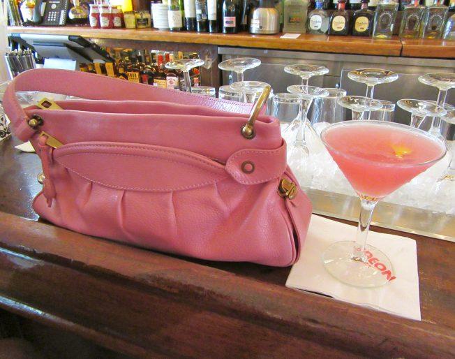 Pink Handbag and Cosmo