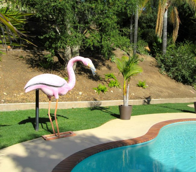 Flamingo Pool Statue