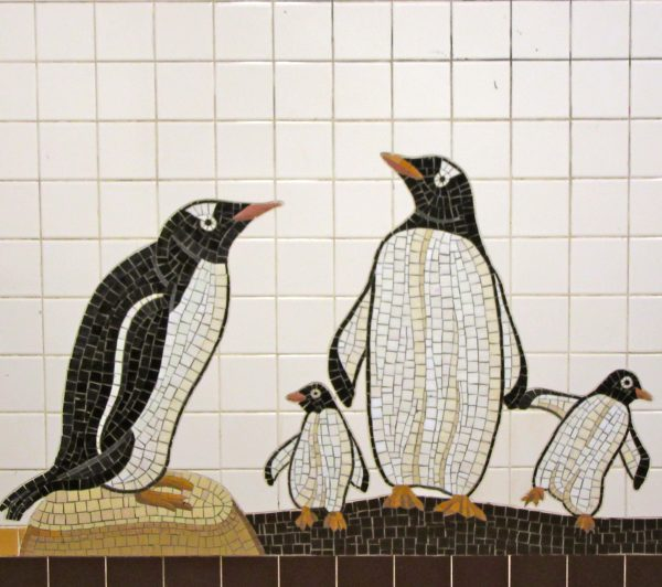 Mosaic Tile Penguins