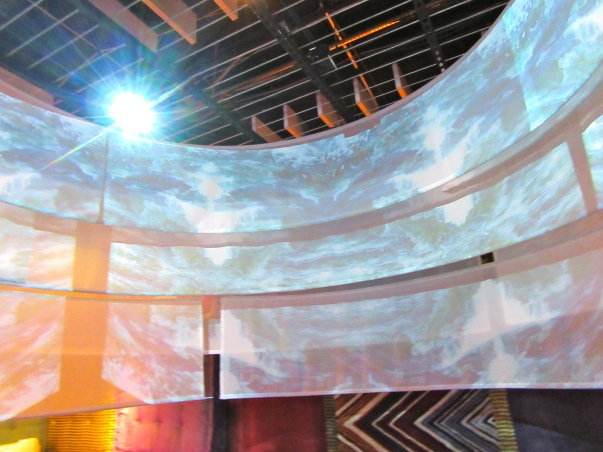 Projection of Ocean on Scrim