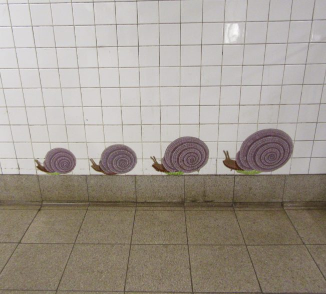 Snails Tile Mosaic