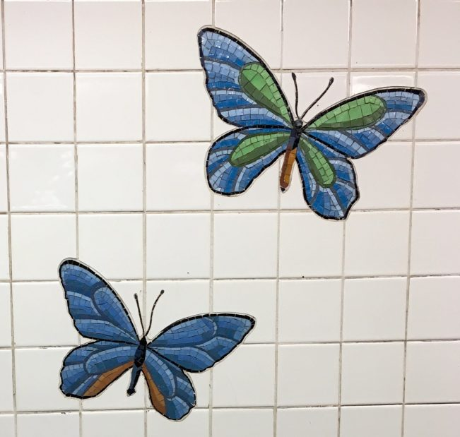 Butterflies Tile Mosaic Detail