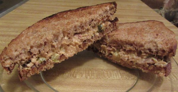 Tuna Sandwich on Whole Wheat