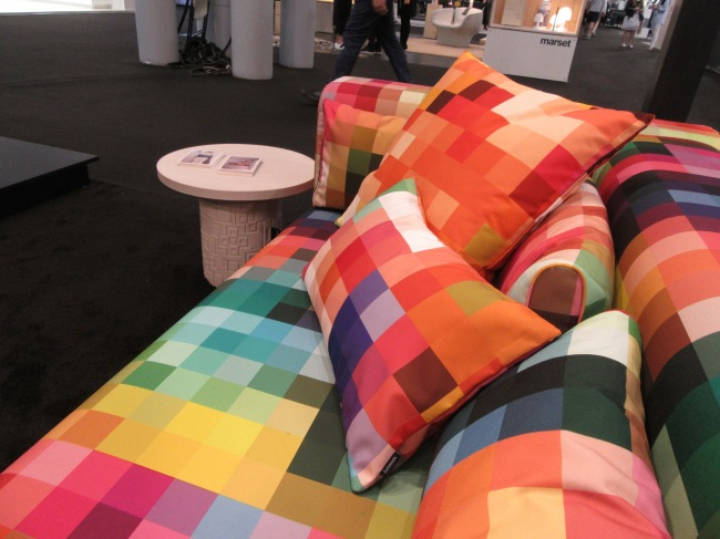 Pixel Sofa and Pillows Detail