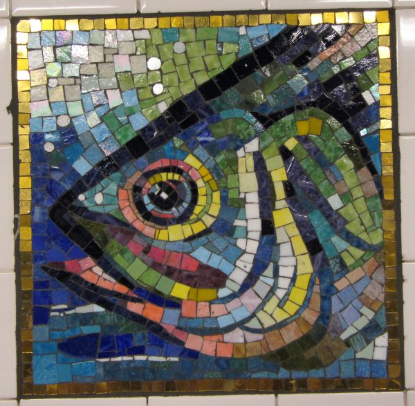 Fish Head Tile Mosaic