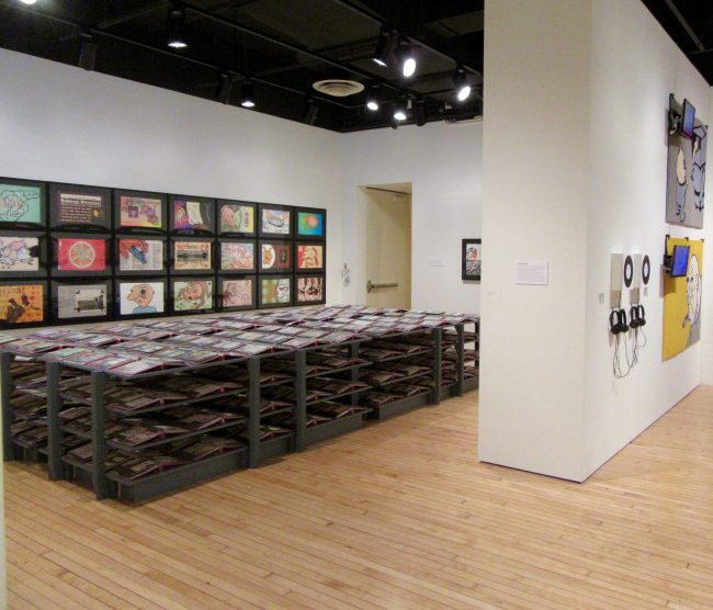 Postcard Diaries Installation View