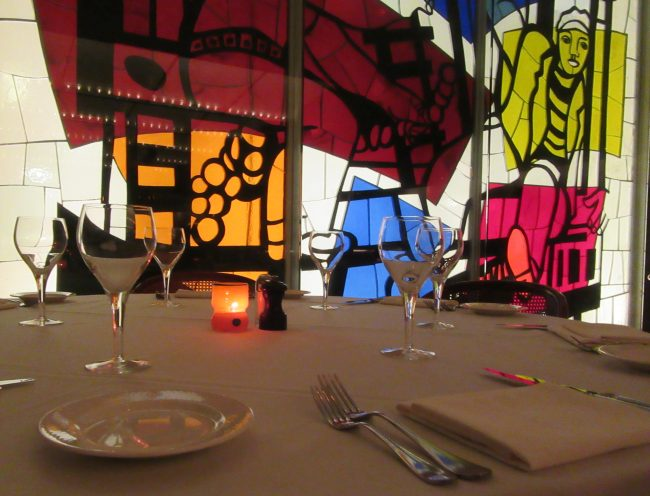 Table Scape with Glass Mural