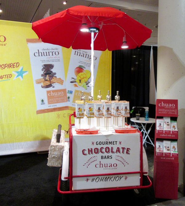 Chuao Gourmet Chocolate Bars Display