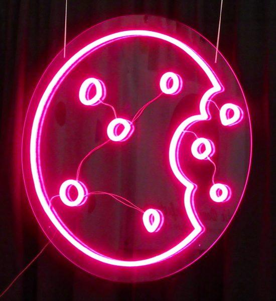 Pink Neon Cookie