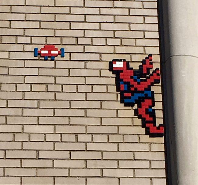 Spiderman Tile Mosaic Detail