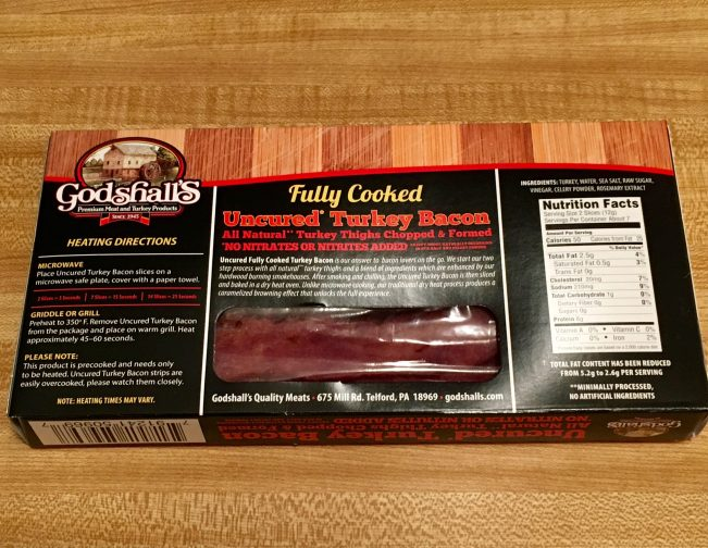 Back of Bacon Package
