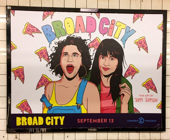 Broad City New Season Subway Ad
