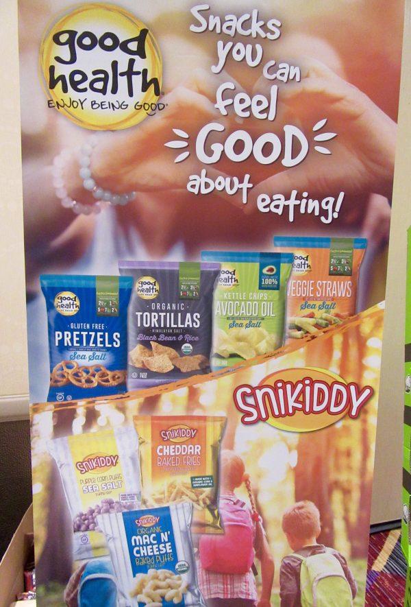 Good Health Snikiddy Snack Signage
