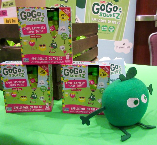 GoGo Squeez Applesauce With Apple Mascot