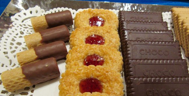 Bahlsen Cookies on Plate