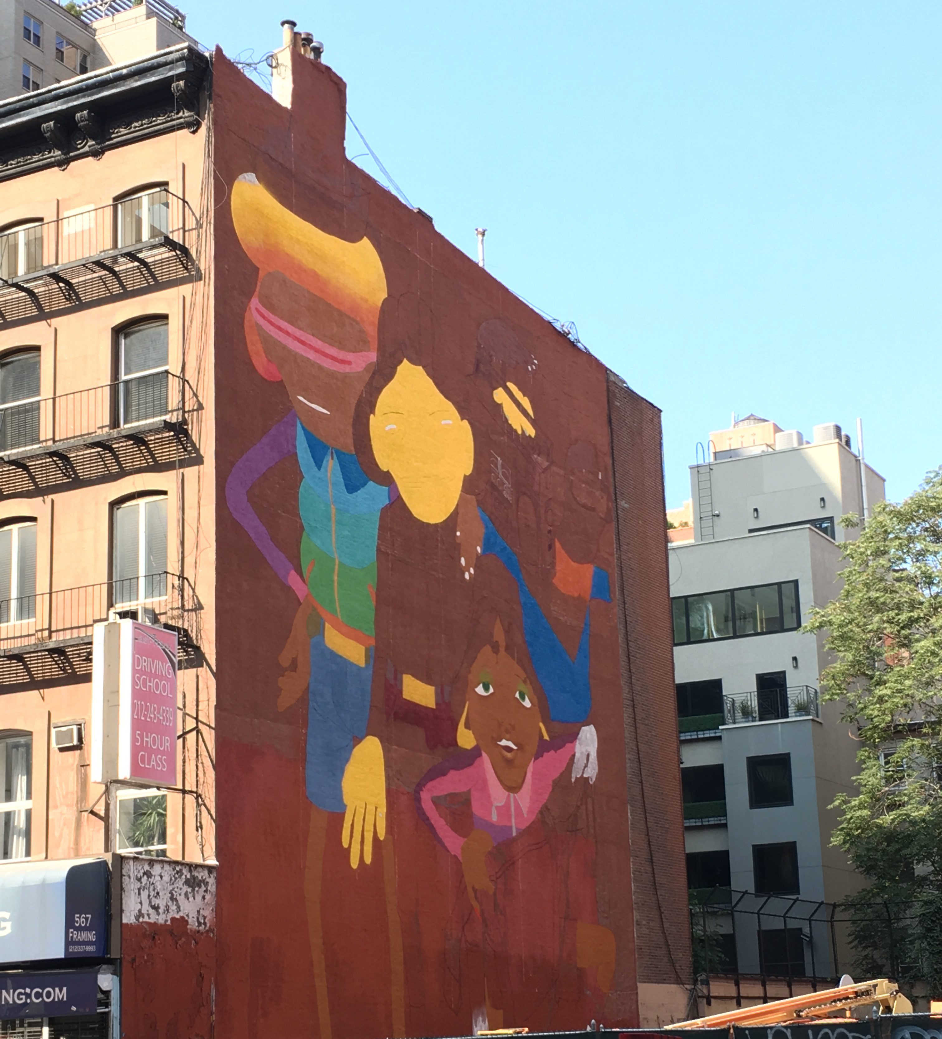 Os Gemeos Break Dancers Double Mural on West 14th Street | The ...