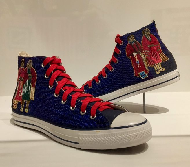 Beaded Sneakers By Teri Greaves